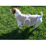 Fleece and sheepskin dog jacket